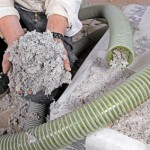 installing dry cellulose fiber blown-in insulation