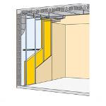 isolation laine de verre sous ossature métallique